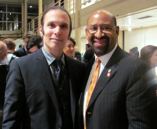 Journalist A.D. Amorosi and Mayor Michael Nutter