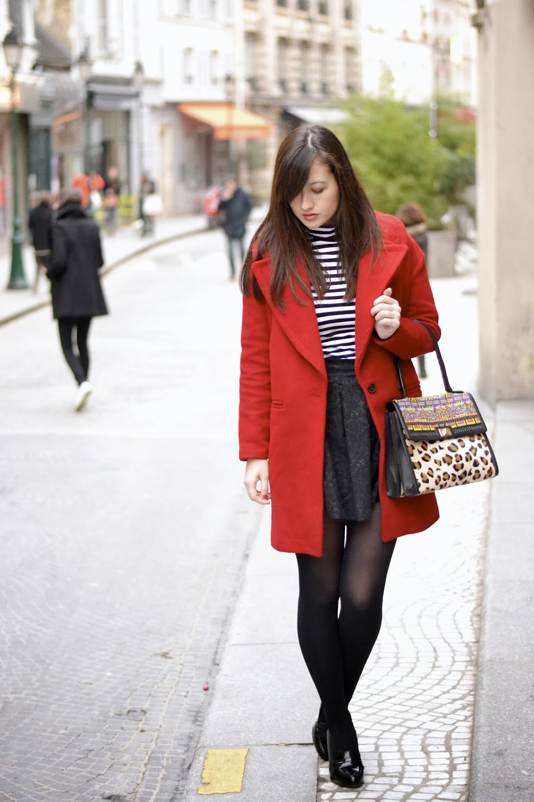 Red Zara Coat