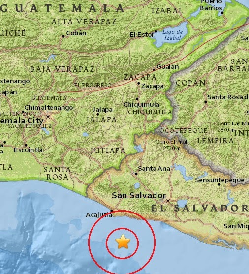 Magnitude 5.1 Earthquake of Acajutla, El Salvador 2015-04-08