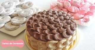 tarta de turron y chocolate, polvorones y roscos de vino