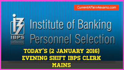 IBPS Clerk Mains 2016 Questions