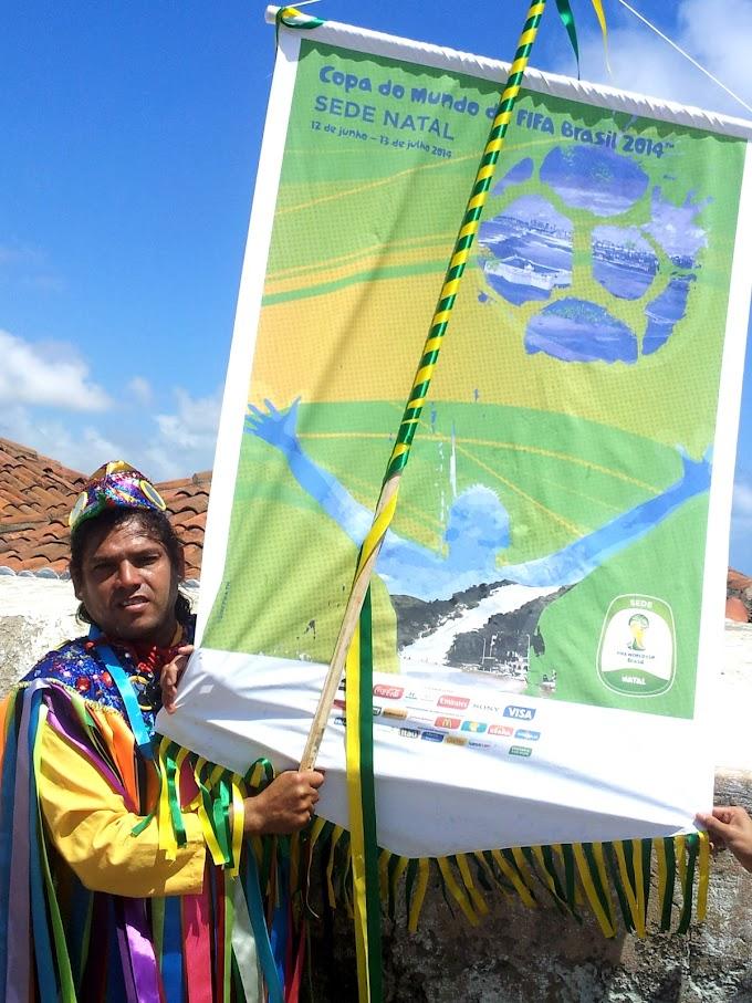 Poster oficial de Natal Copa do Mundo 2014 é lançado na Fortaleza dos Reis Magos