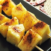 spicy pineapple fruit skewers