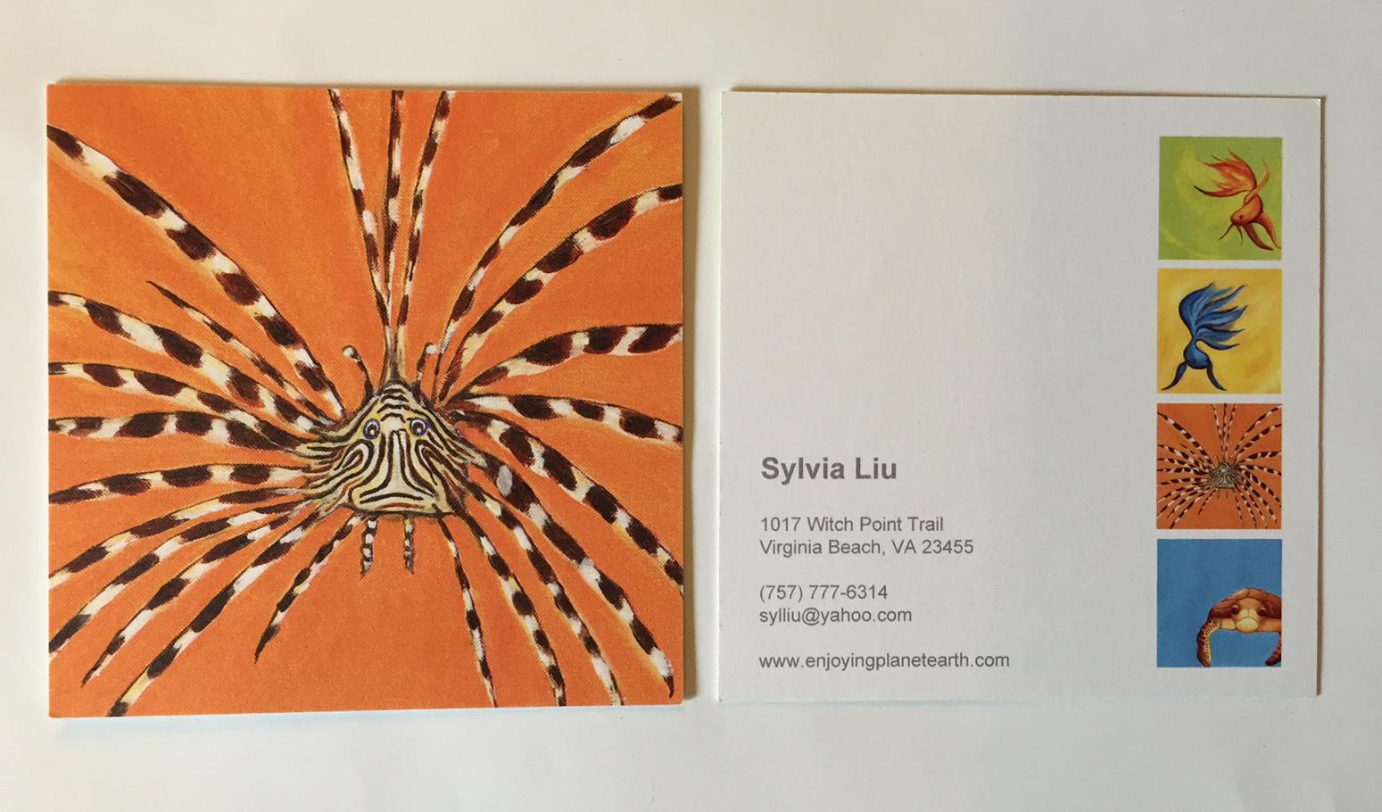 sylvia liu land postcard and business card printers