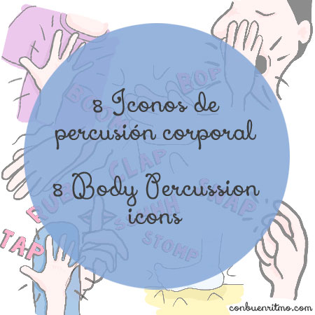 8 body percussion icons and flashcards