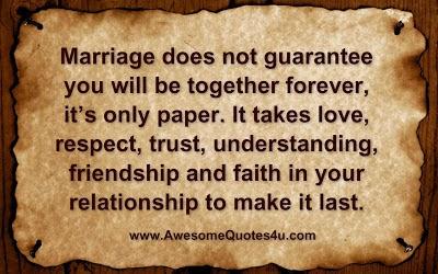 Heart Touching Postes & Hindi Shayari !!: Marriage does not guarantee