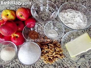 Prajitura cu mere de post ingrediente reteta