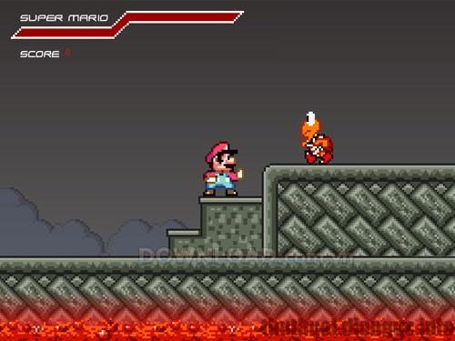 Download game Mario Combat – Mario tiêu diệt những chú rùa