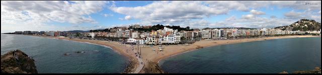 Vista panorámica desde la Palomera Blanes, Girona