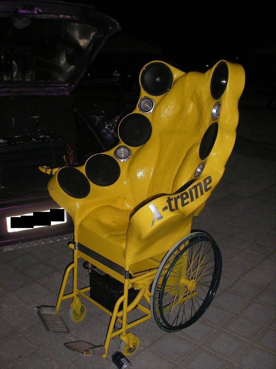 silla de ruedas tuneada