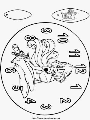 Relógio para montar e colorir
