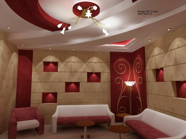 Top 10 catalog of modern false ceiling designs for living for Best drawing room designs