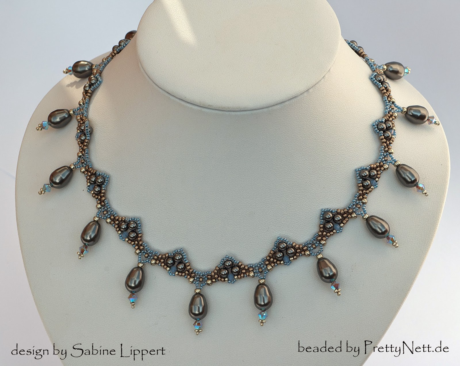 "Necklace ""Art Deco"" beaded by PrettyNett.de"