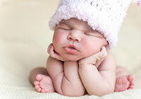 Sleeping Kids Imgaes With White Cap Baby Pictures
