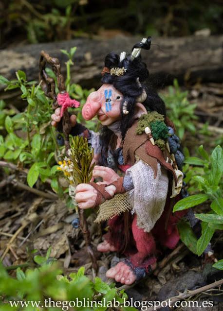 Meg Berriebag curandera goblin ooak muñeca fantasía