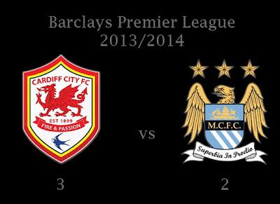 Manchester City vs Cardiff City Barclays Premier League Results