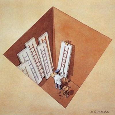 Gürbüz Doğan Ekşioğlu - Painting ladders