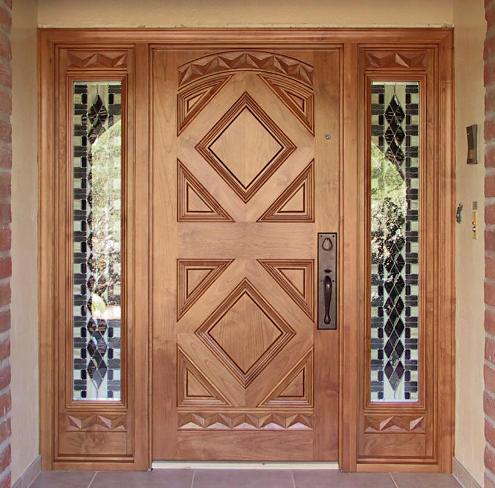 Wooden Home Main Doors on modern door grill design
