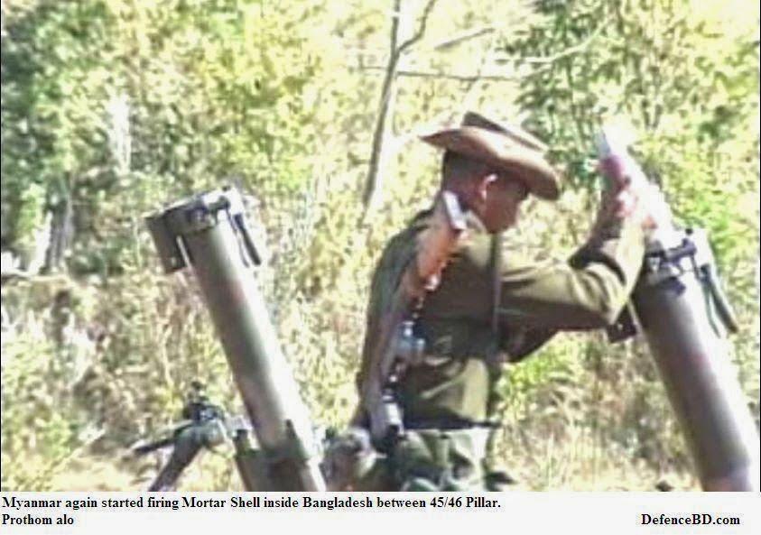 Myanmar Firing Mortar shell inside Bangladesh again