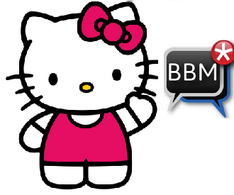 BBM Mod Tema Hello Kitty with Floating Tab Versi 2.6.0.30
