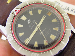 1960 ENICAR SHERPA DIVE RED DATE RUBYROTOR 30 JEWELS - AUTOMATIC - RARE