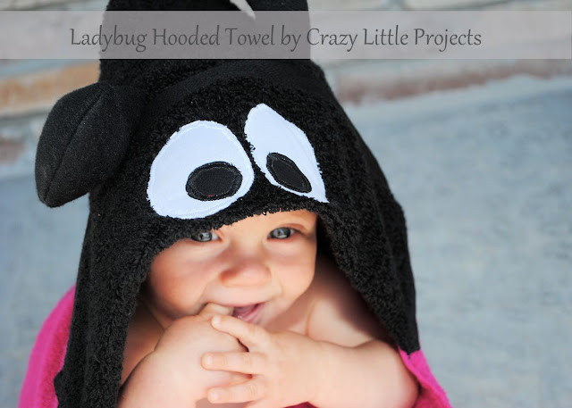 Ladybug Hooded Towel