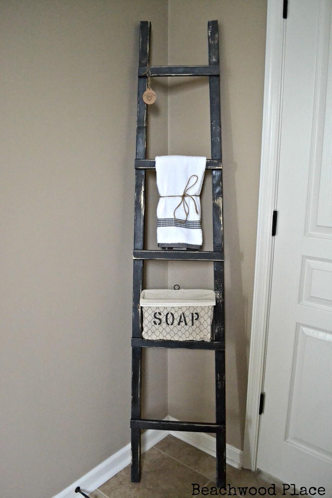 Primitive Bathroom Ladder
