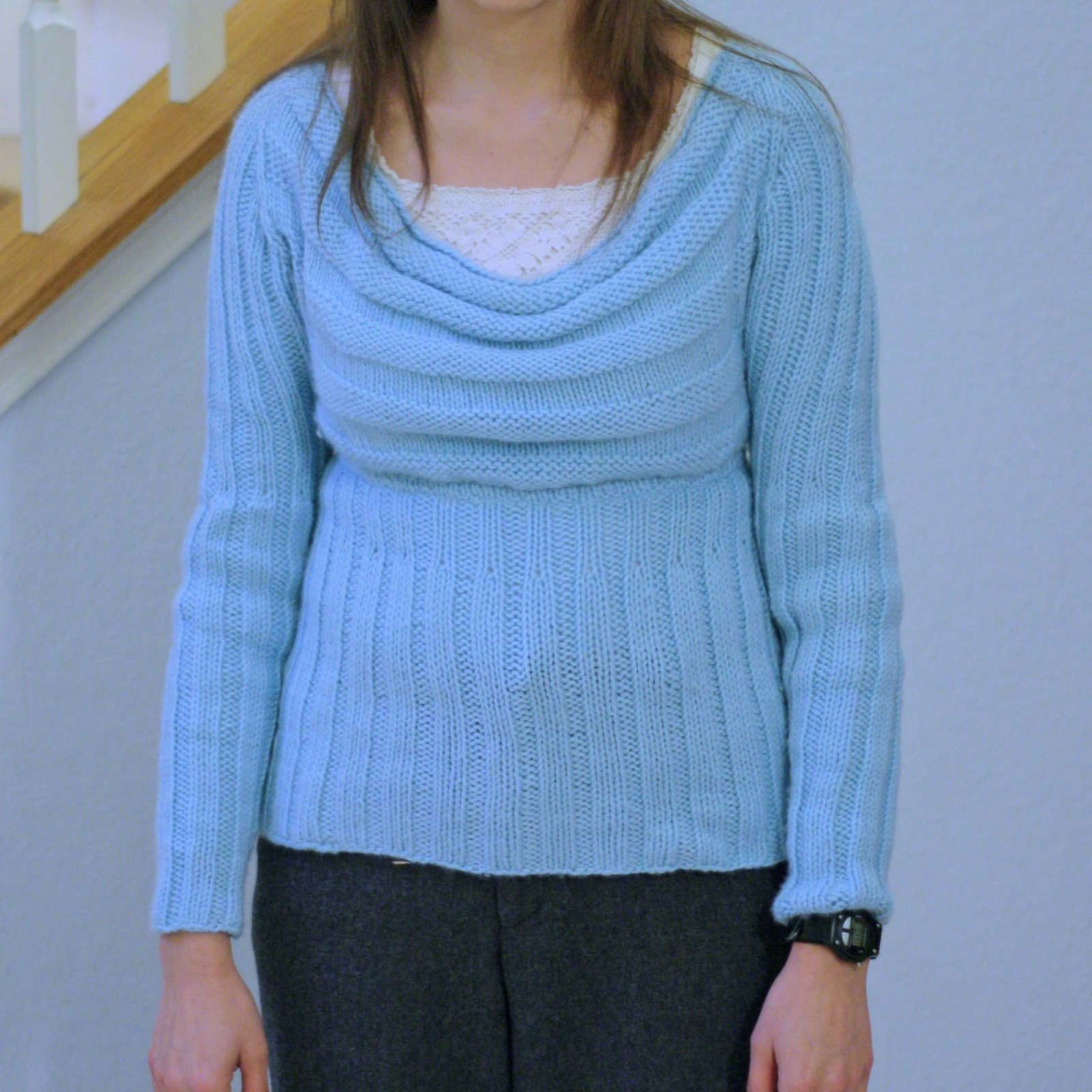 Knitted scoop neck sweater - Melly Sews