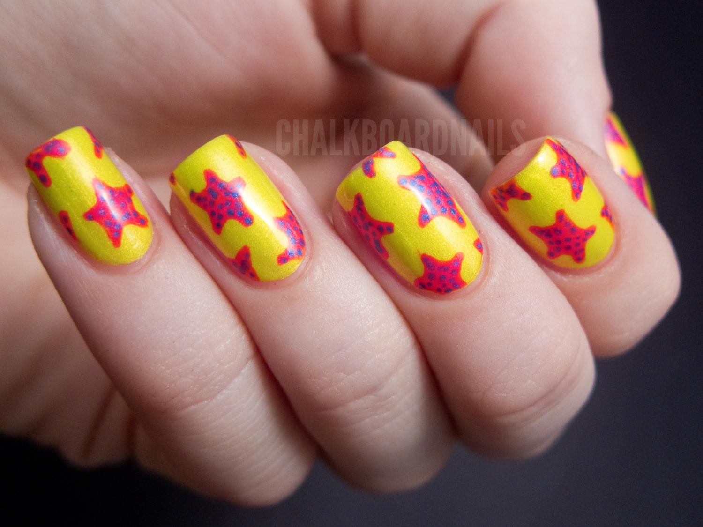 China Glaze Summer Neons Nail Art Starfish Manicure Tutorial