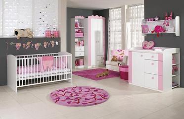 Habitaci n de beb rosa y gris dormitorios con estilo for Decoracion habitacion nina gris y rosa