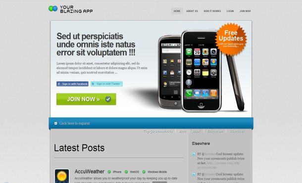 Mobile Chrome Free CSS XHTML Web Template