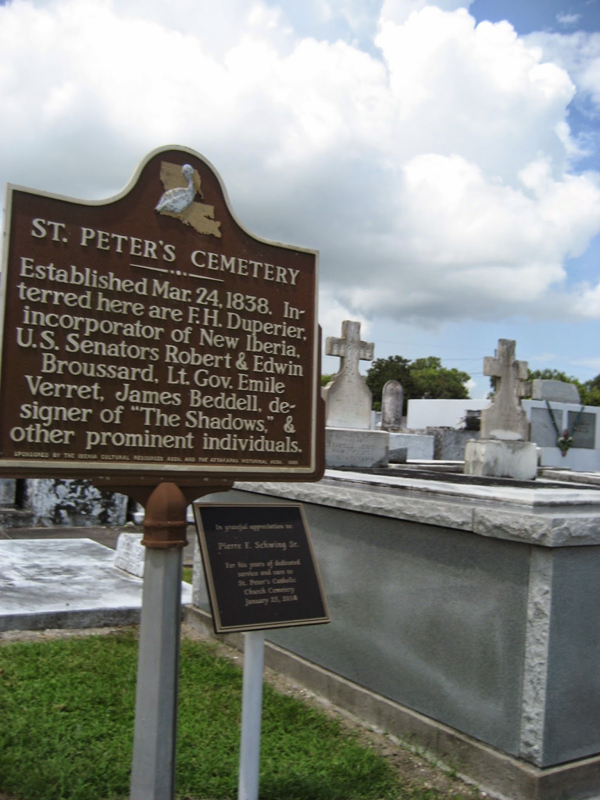 St Peter's Cemetery, New Iberia, Louisiana
