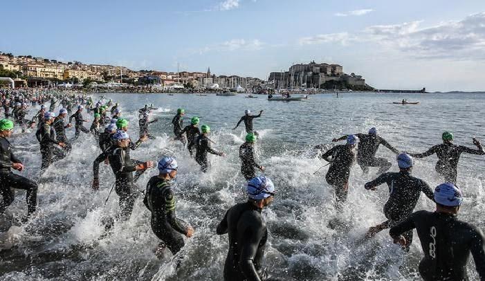 Départ du Triathlon de Calvi