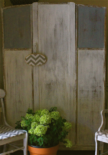 See a milk painted armoire at perfectly imperfect.