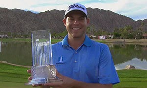Bill Haas with trophy