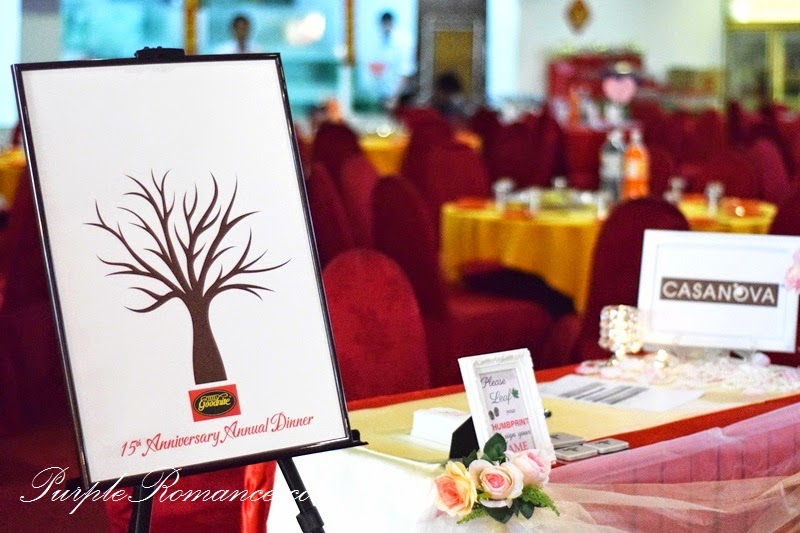 Goodnite annual dinner decoration klang purple romance event reception table decoration decor goodnite company annual dinner anniversary award junglespirit Gallery