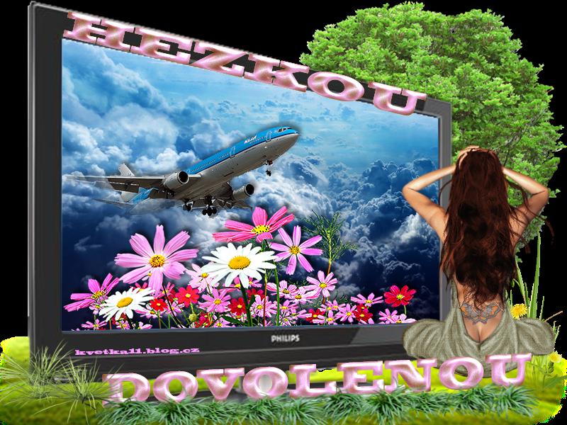 slečna sleduje letadlo Hezkou dovolenou