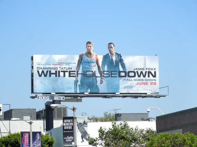 White House Down extension billboard