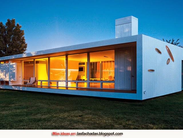 Fachada prefabricadas modernas fachadas de casas y casas for Casas prefabricadas modernas