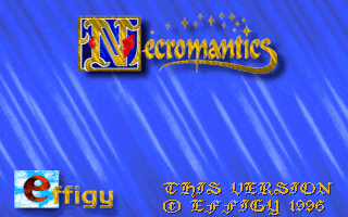 Necromantics dos title screen