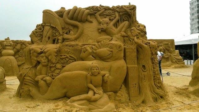 Jungle Book Disney Sand Sculpture