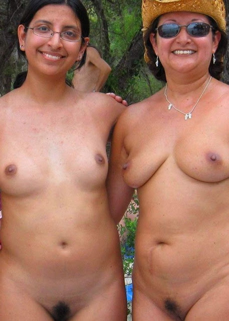 Indian mom daughter nude beach