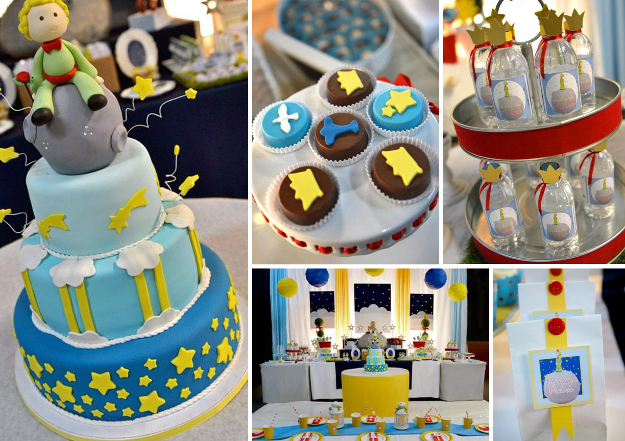 the little prince themed baby christening and shower