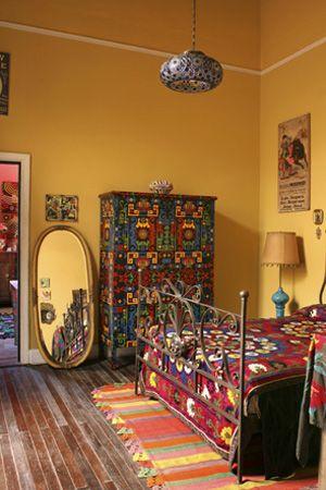 Südamerikanische Folklore und Design fürs Zuhause - Einrichten mit Herz: Schlafzimmer