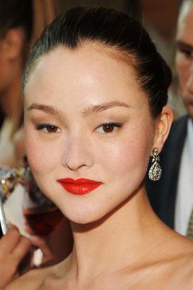 Prominent eyelids makeup