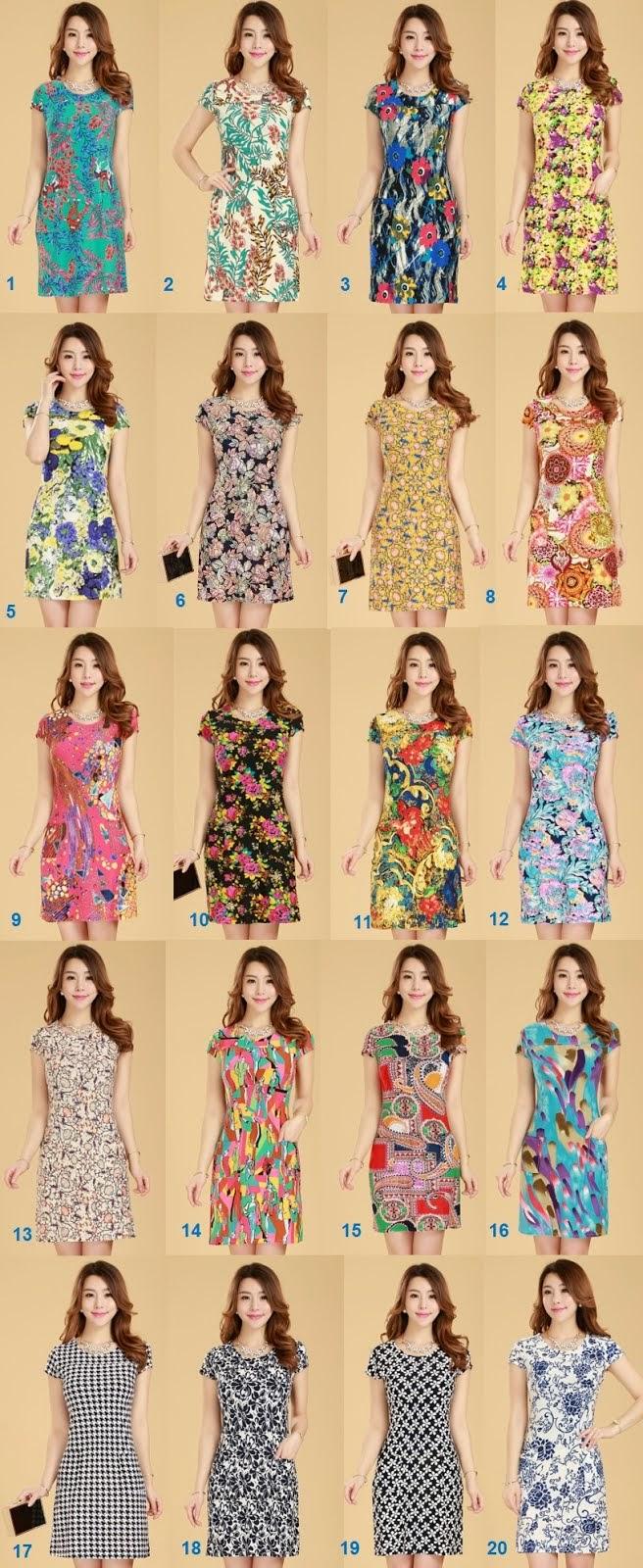 New 2015 Spring Plus Size Ice Silk Midi Dress