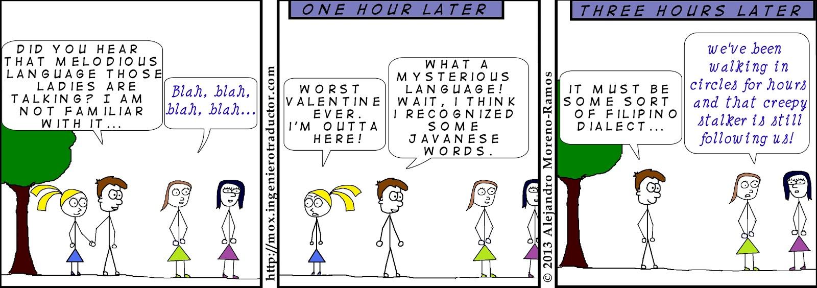 cartoon translator mysterious language