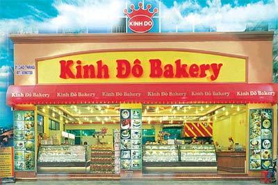 kinh do bakery Kinh đô là một thương hiệu bánh nổi tiếng với nhiều loại bánh như bánh kem, bánh tươi, fastfood, thức uống, ngoài ra còn có dịch vụ bán hàng trực tuyến.