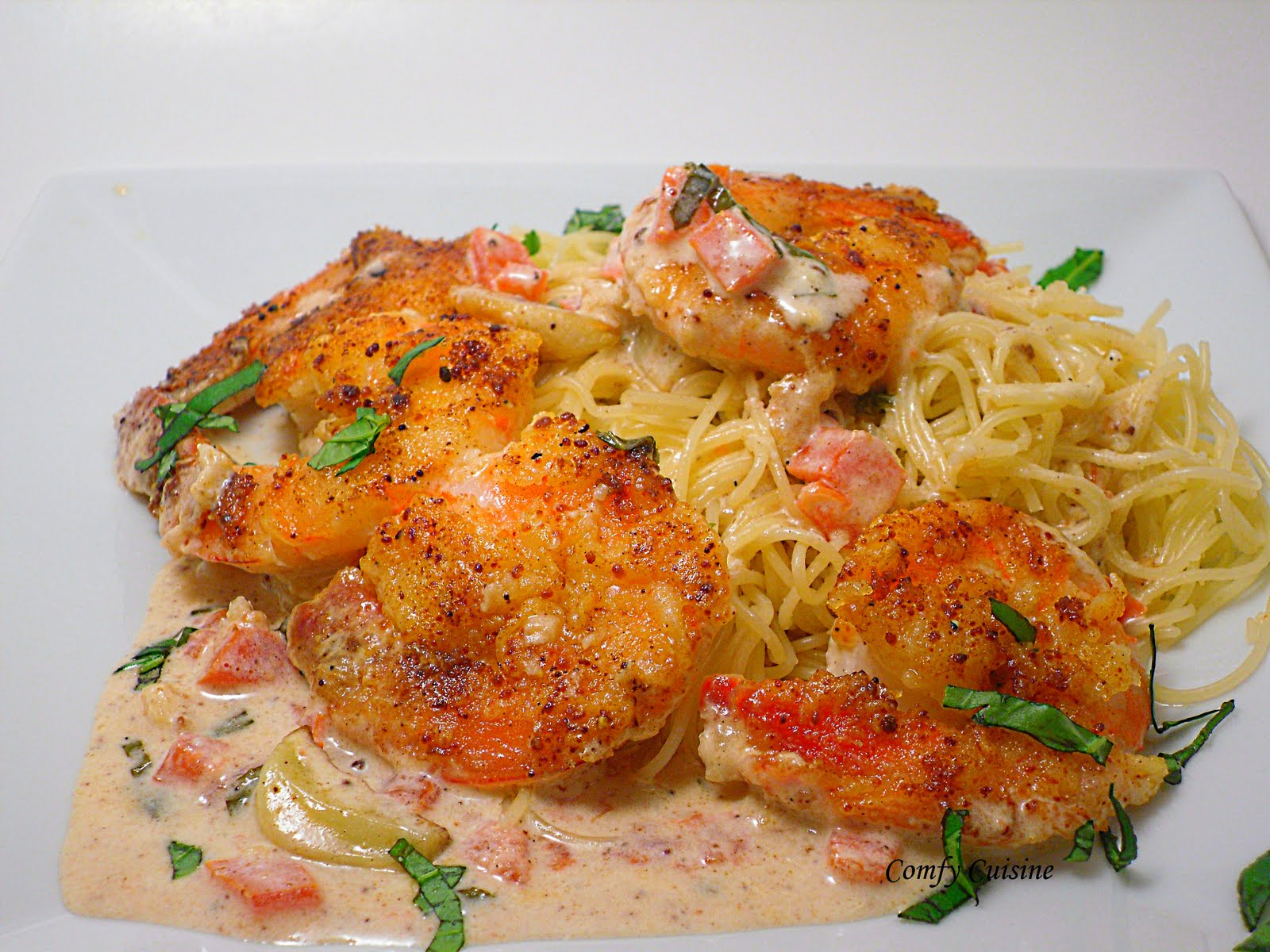 Shrimp Scampi Over Whole Grain Linguini Recipes — Dishmaps
