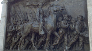 Boston sculpture commemorating the African American Colored Troops  and Col. Robert Gould Shaw
